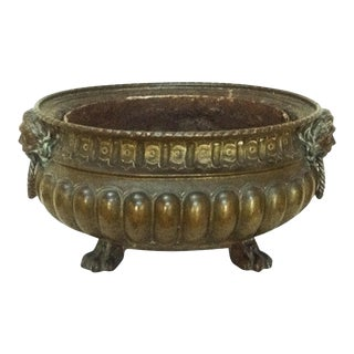 19th-C. Brass Jardiniere