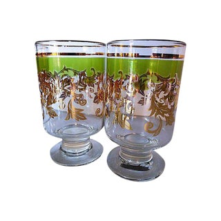 Mid-Century Holiday Beverage Glasses - Set of 8
