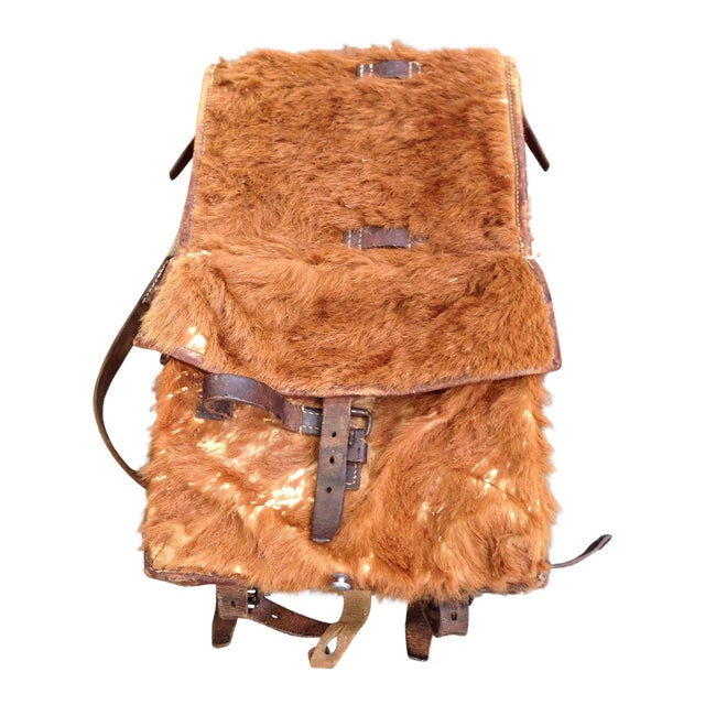 Austrian Leather & Reindeer Skin Backpack - Image 1 of 7