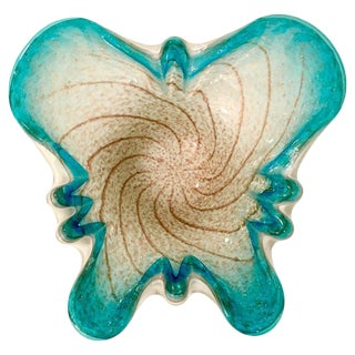 Mid-Century Italian Murano Glass Butterfly Bowl