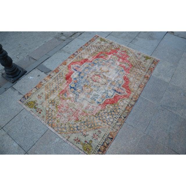 "Handmade Anatolian Tribal Rug - 45"" x 63"" - Image 3 of 6"