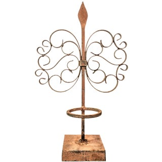 Gothic Wrought Iron Candle Holder