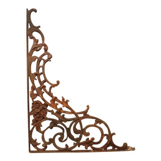 Antique Cast Iron Architectural Garden Bracket