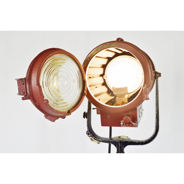Vintage Mole Richardson Professional Studio Stage Spotlight Industrial Floor Lamp with Boom Attachment - Image 4 of 11