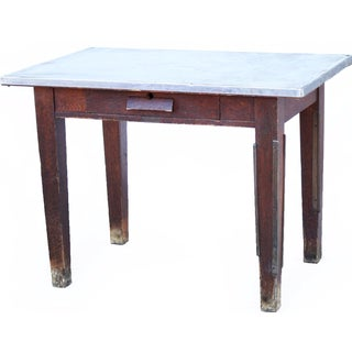 Vinyl Top Wood Work Table