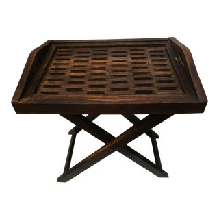 Solid Wood Serving Tray Table