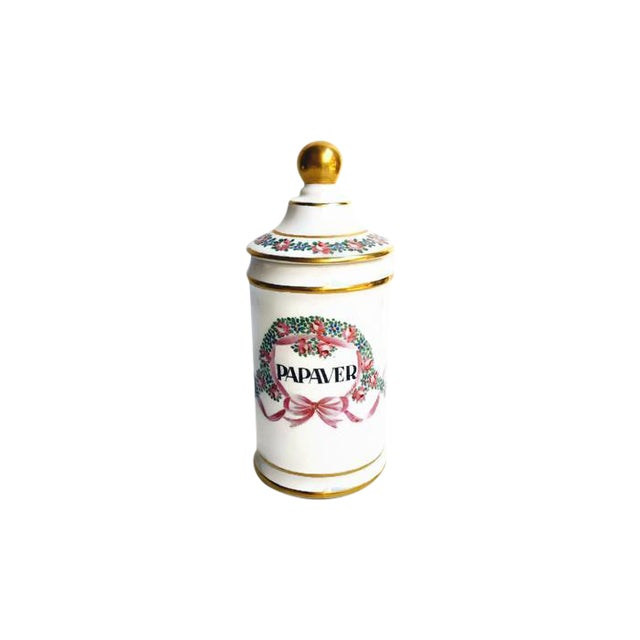 Vintage Apothecary Ceramic Opium Canister/Jar - Image 1 of 7