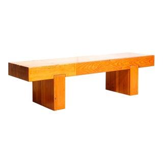 Modernist Solid Wood Bench