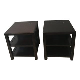 Room & Board Dark Wood Nightstands - A Pair