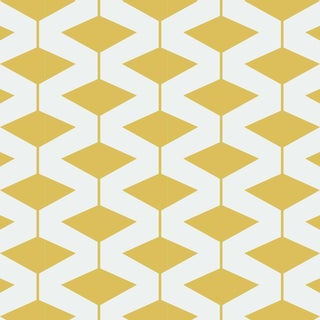 Yellow Abacus Wallpaper Remnant by Mitchell Black