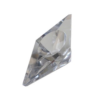Dunhill Vintage Crystal Faceted & Tilted Ashtray