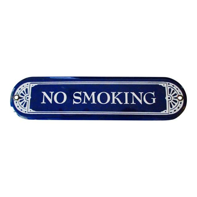 """Enamel Porcelain """"No Smoking"""" Sign - Image 1 of 7"""