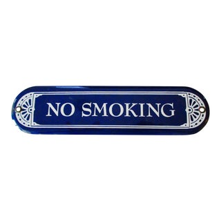 "Enamel Porcelain ""No Smoking"" Sign"