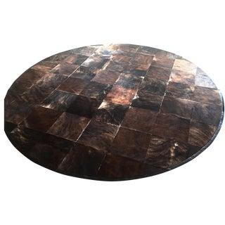 South American Hide Tile Rug - 11′ × 11′