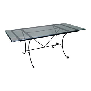"Charleston Forge 73"" Glass Top Dining Table"