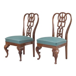 A PAIR OF LAJOS KOZMA AESTHETIC MOVEMENT CHAIRS
