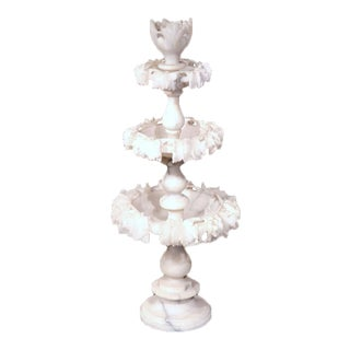 19th Century French 3-Tiered Carved Alabaster Display Piece