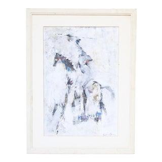 Norman Rubington Acrylic on Paper Painting