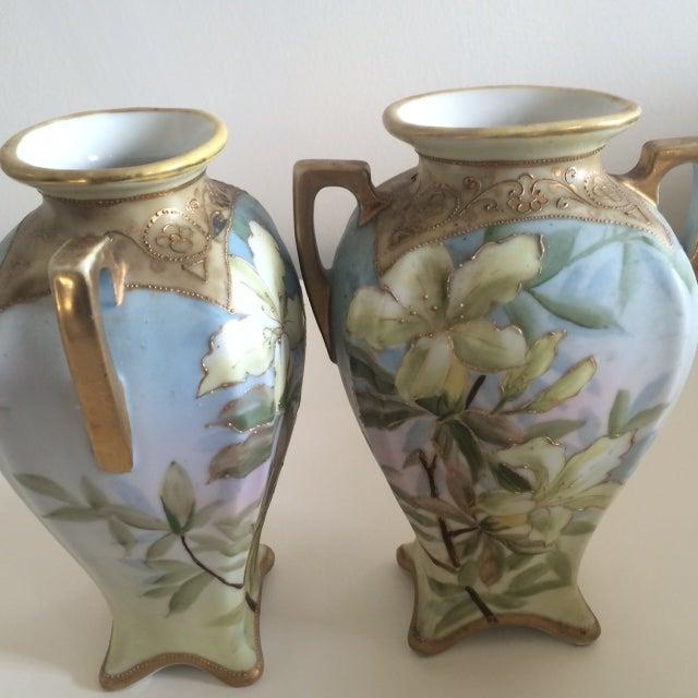 Image of Nippon Moriage Matching Vases - Pair