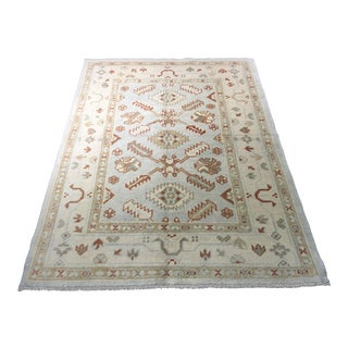 Genuine Turkish Oushak Rug - 4' X 5'4""