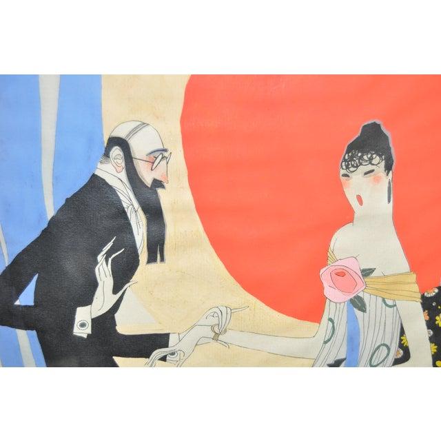 Ralph Barton (1891–1931) Art Deco Painting 1920's - Image 5 of 8