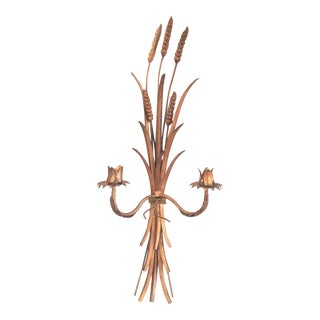 Italian Gold Tole Candle Sconce