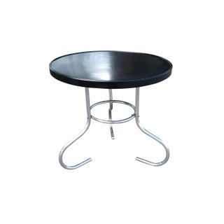 English Art Deco Bakelite & Chrome Low Table