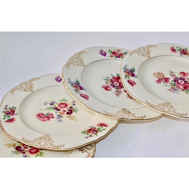 Set of 13 Floral Porcelain Czechoslovakian Epiag Dessert/Bread Plates - Image 10 of 11
