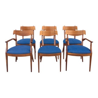 Blue Upholstered Drexel Chairs - Set of 6