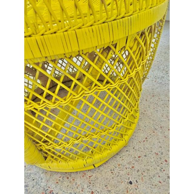 Mid-Century Rattan Wicker Fan-Back Peacock Chair - Image 9 of 9