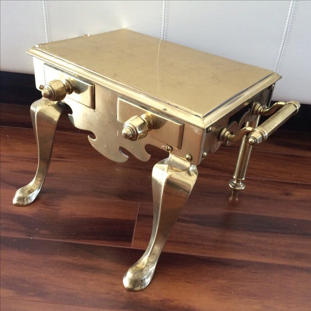 Antique Brass & Iron Foot Warmer Stool - Image 5 of 8