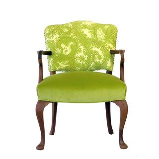 Upholstered Green Velvet Occasional Chair