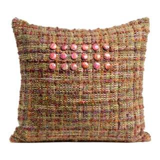 Pink Hand-Woven Pillow