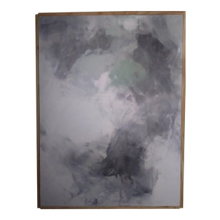 """Ocean Fog"" Original Framed Abstract Art by Kris Gould"