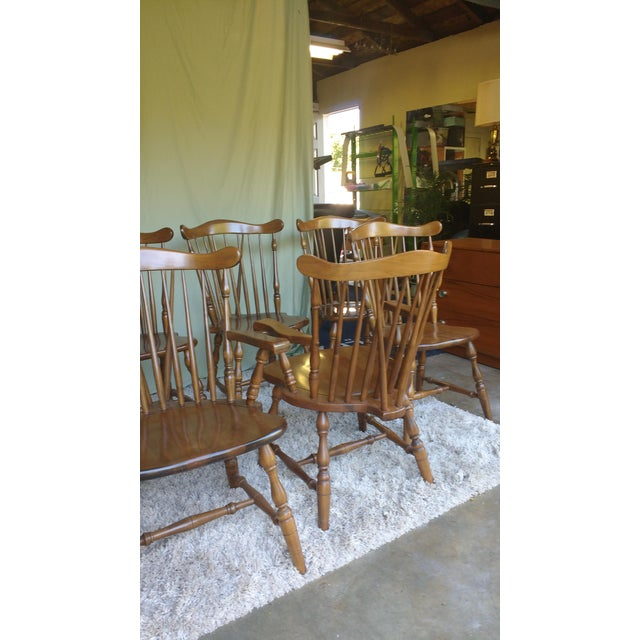 Antique Heirloom Fiddle Back Chairs - Set of 8 - Image 6 of 7