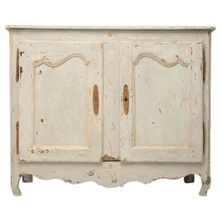 18th Century Antique French, Painted Louis XV, Two-Door Buffet