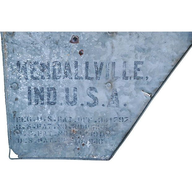 Antique Nebraska Windmill Tail Sign - Image 6 of 6