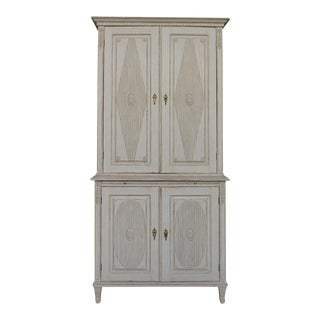 Gustavian Style Cabinet with Pull-Out Shelf (#63-02)