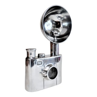 Aluminum Vintage Flash Camera Sculpture