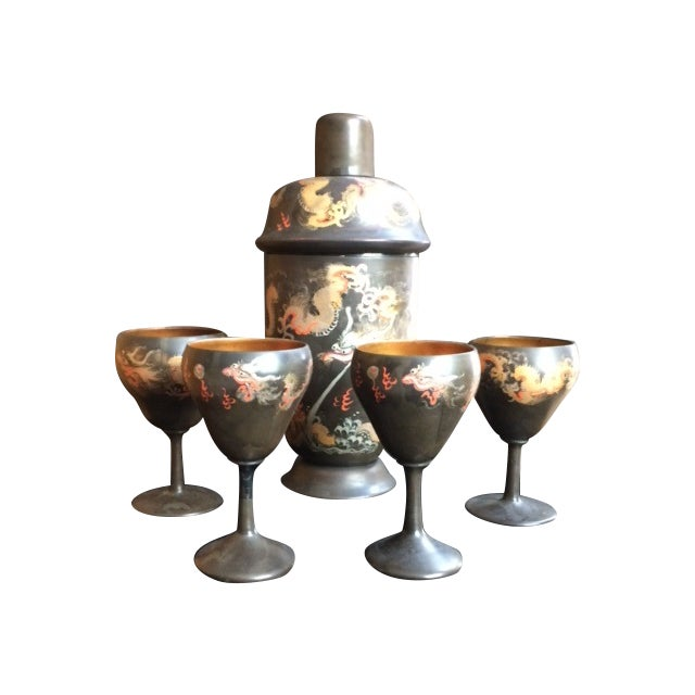 Image of Chinoiserie Barware Set