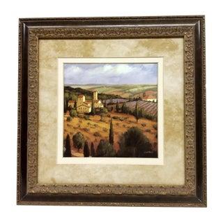 """Tuscany at Sunset"" Lithograph"