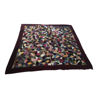 Antique Geometric Pattern Quilt