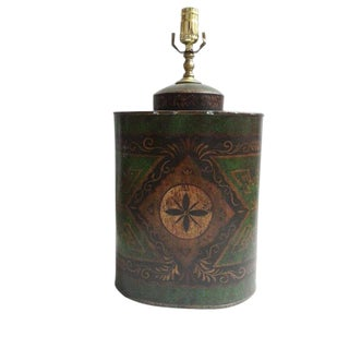 Chinese Export English Tea Caddy Lamp