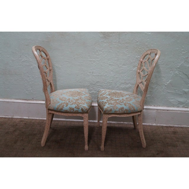 Faux Painted Spider Back Dining Chairs - Set of 6 - Image 3 of 10