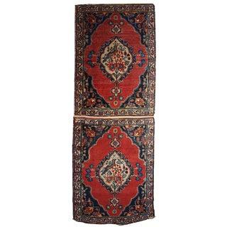 1910s Persian Tabriz Double Mat Rug - 1′8″ × 4′8″