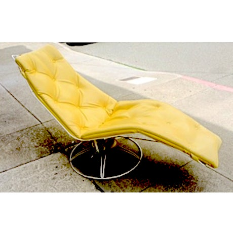 Vintage Yellow Recliner Chair - Image 2 of 4
