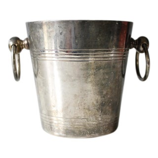Vintage Silverplated Champagne Bucket Ice Bucket Art Deco Mid Century
