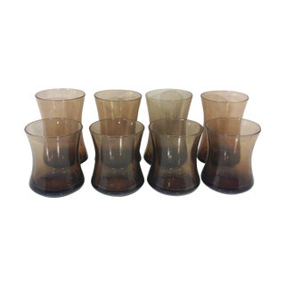Bronze Hour Glass Beverage Glasses - Set of Eight