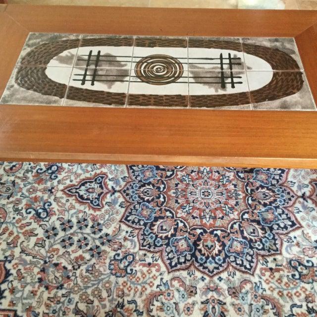 Danish Modern Tile Top Coffee Table - Image 3 of 7