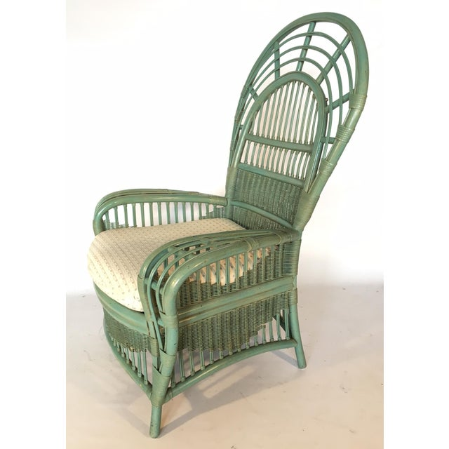Image of Ficks Reed Rattan Bamboo Fan Back Arm Chair